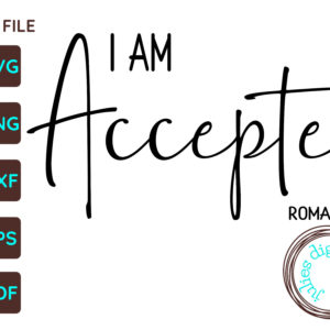 I Am Accepted Christian SVG, Romans 15