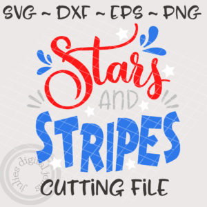 Stars and Stripes 4th of July svg